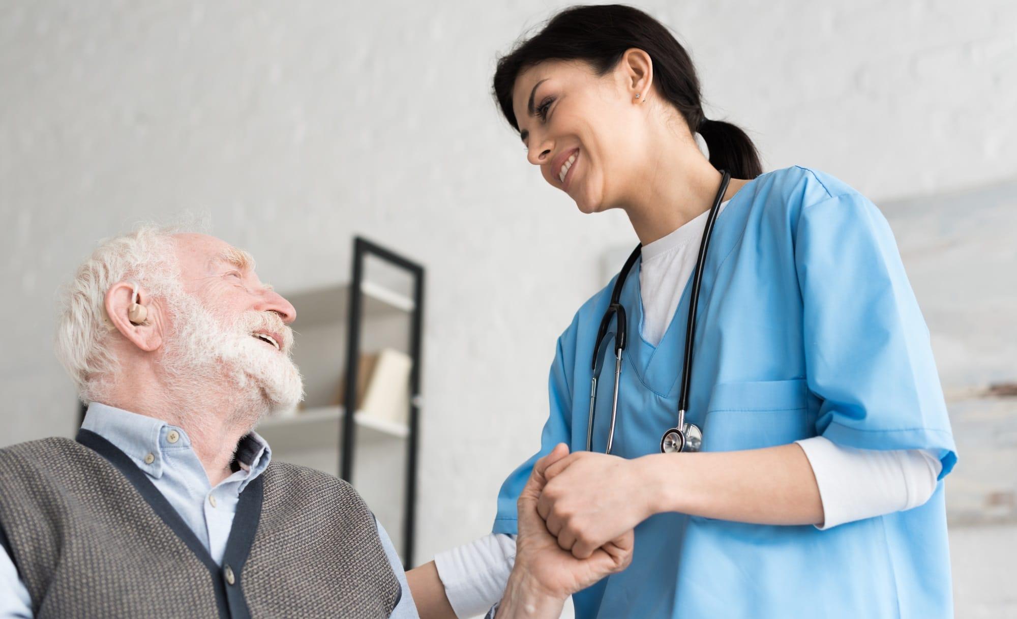 Non-medical nurse providing senior care at home